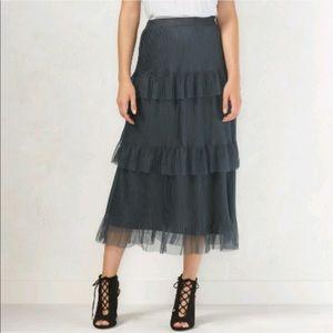 LC Lauren Conrad navy blue tulle tier skirt
